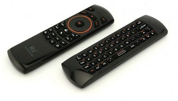 Fly Air Mouse Keyboard & Infrared Remote Control Riitek RII K25A RT-MWK25A 2.4Ghz, Audio Chat, for TV BOX, PC, Games, Black-0